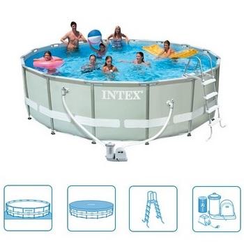 intex zwembad ultra frame kopen online goedkope zwembaden