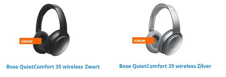 bose koptelefoon wireless zwart zilver