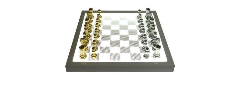 luxe schaakspel design purling london zilver goud