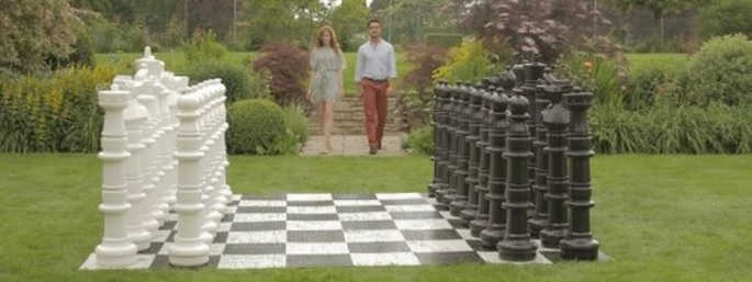schaakset tuin