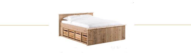 extra brede lange bedden hout