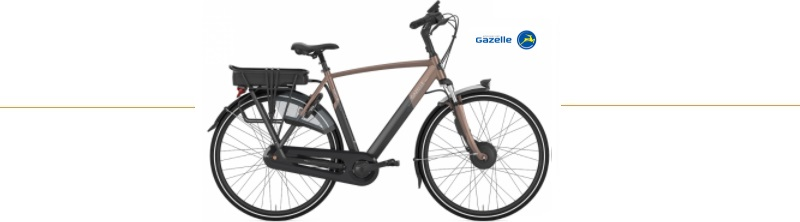 gazelle e- bike orange c7 heren
