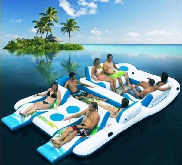 opblaasbaar eiland floating tahiti