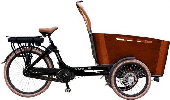 vogue carry elektrische bakfiets kangeroo 7v matzwart