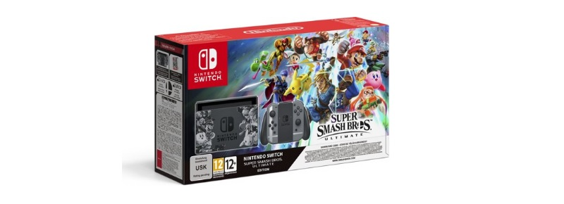 nintendo switch console super smash bros ultimate bundel