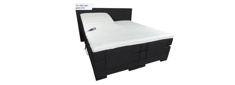 elektrische boxspring zwart inclusief matras cool 180x220cm