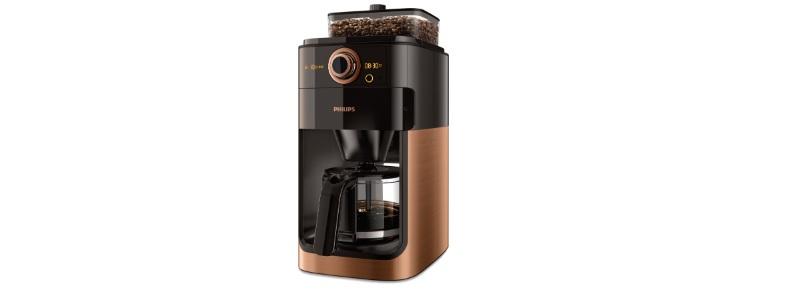 philips koffiezetapparaat kopermetaal grind brew hd7768-70