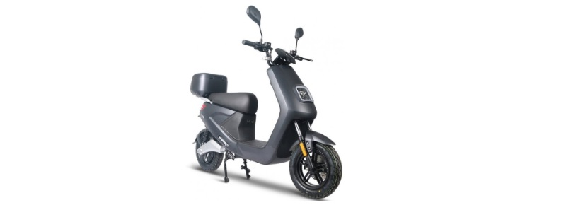 iva e-scooter grijs go s4 elektrisch