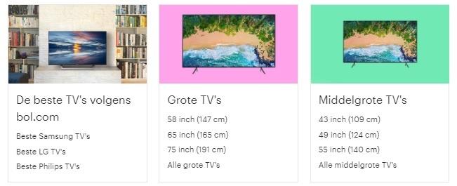 beste grote en middelgrote televisies