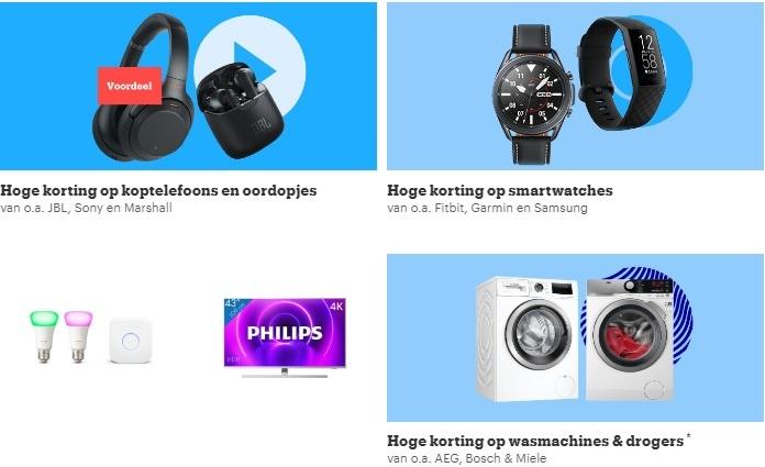 black friday koptelefoons horloges en wasmachines