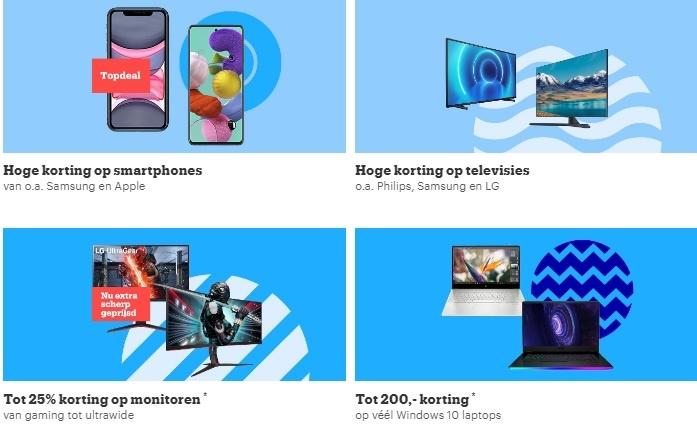kortingen op televisies gaming en laptops